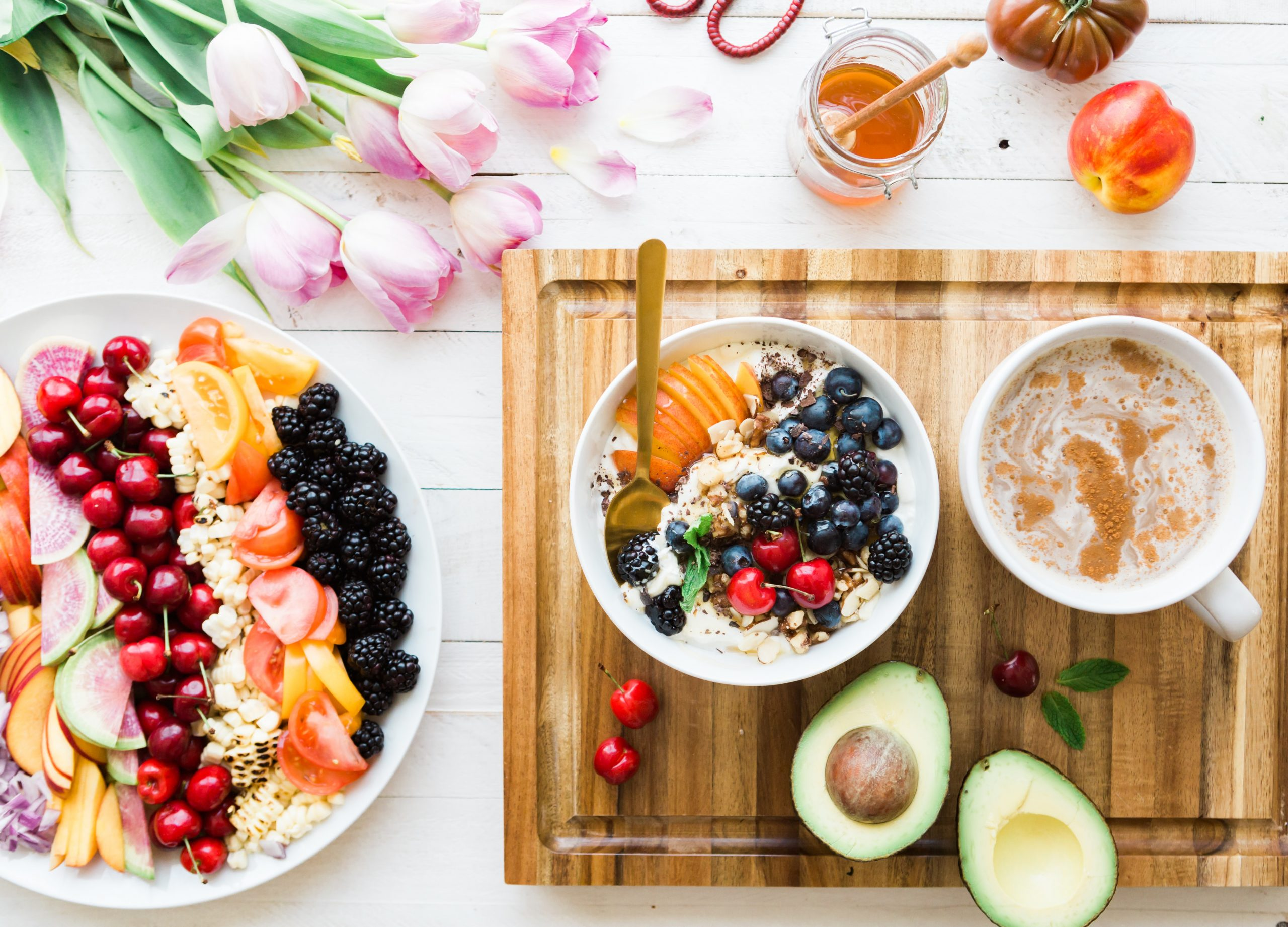 bowls of healthy food on a table