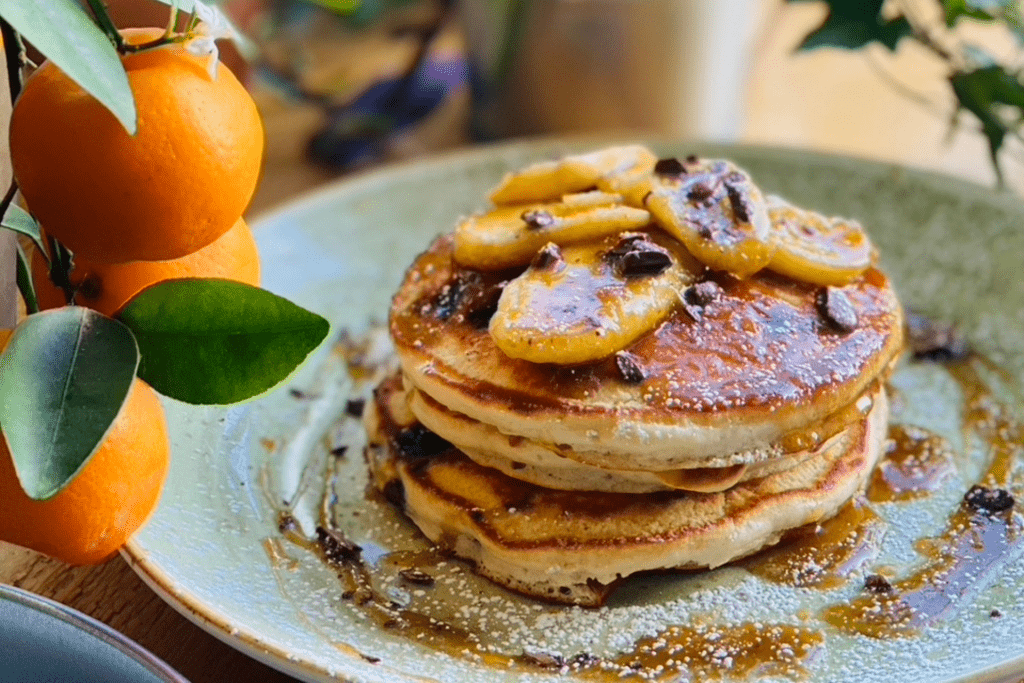 Beautifully served pancakes